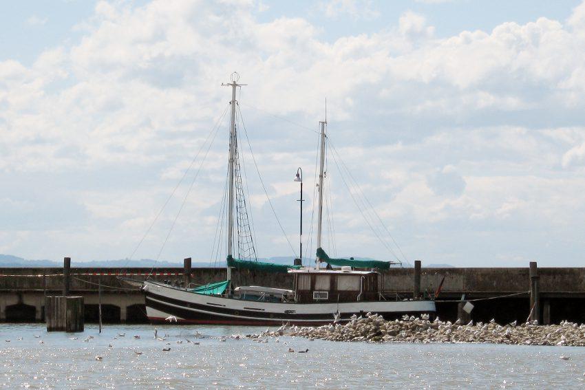 Bodensee Fischerei Kaimauer